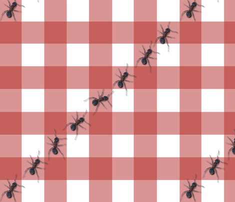 The_Ants_Go_Marching_Fabric_SQ fabric by shabbycrafter on Spoonflower - custom fabric