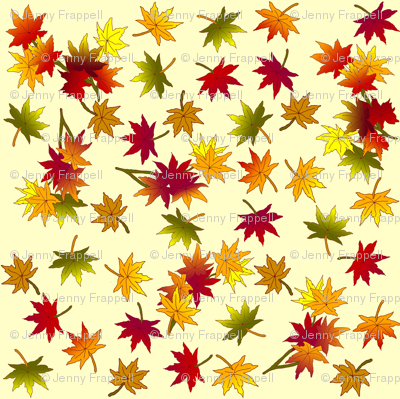 Small Autumn Leaves in Straw © Indigodaze2013