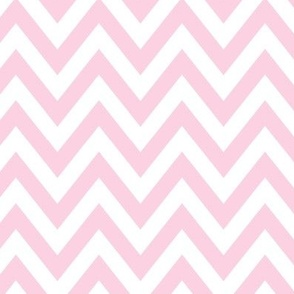 simple chevron light pink & white