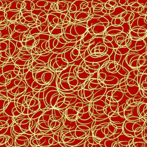 Red & Gold Swirl