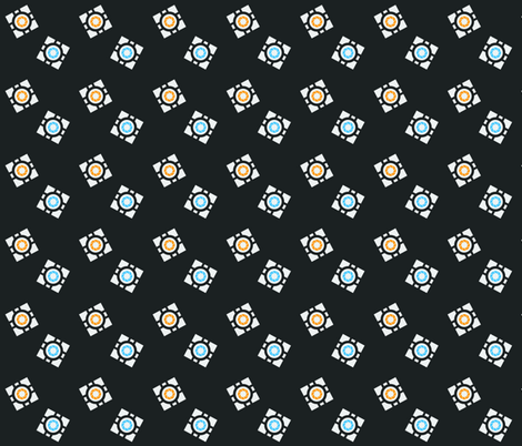 Portal Cubes 3 fabric by crumpetcouture on Spoonflower - custom fabric