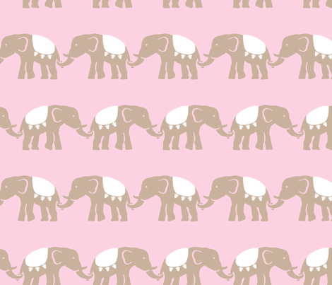 elephant_baby_girl_11 fabric by juneblossom on Spoonflower - custom fabric