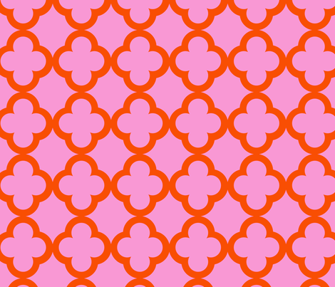 simple_tiling_pink tangerine fabric by juneblossom on Spoonflower - custom fabric