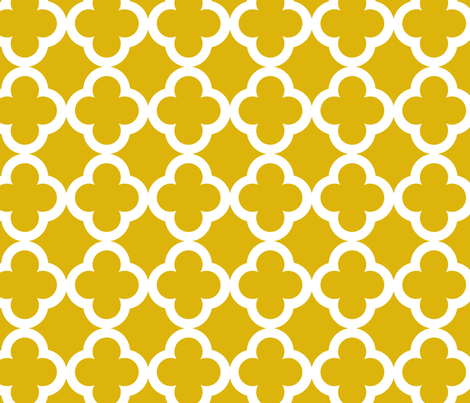 simple_tiling_mustard fabric by juneblossom on Spoonflower - custom fabric