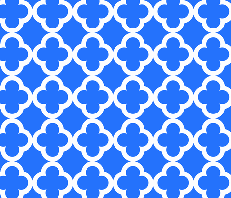 simple_tiling_true blue fabric by juneblossom on Spoonflower - custom fabric