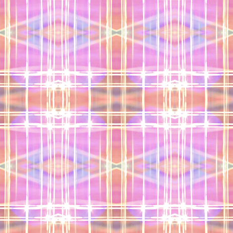 misty coral and pastel plaid  fabric by dk_designs on Spoonflower - custom fabric