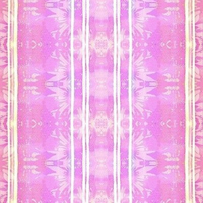tropical misty floral batik pink and purple stripes