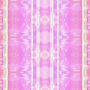 tropical misty floral batik pink and purple stripes