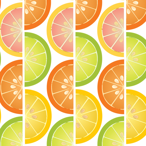 Citrus Stripes fabric by melhales on Spoonflower - custom fabric