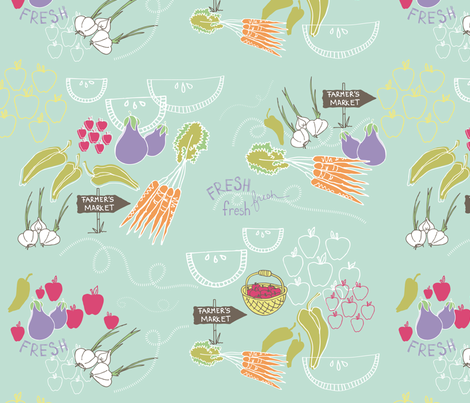 Going To Market fabric by joyfulroots on Spoonflower - custom fabric