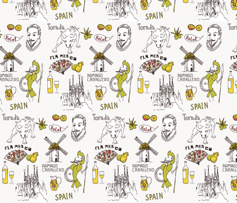 Spain fabric by yaskii on Spoonflower - custom fabric