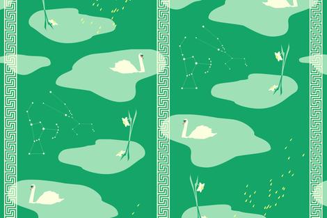 Greek mythology emerald - large scale fabric by ravynka on Spoonflower - custom fabric