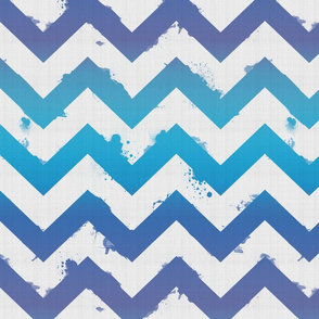 Ombre Watercolor Chevron