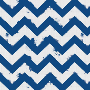 Ombre Watercolor Chevron-navy