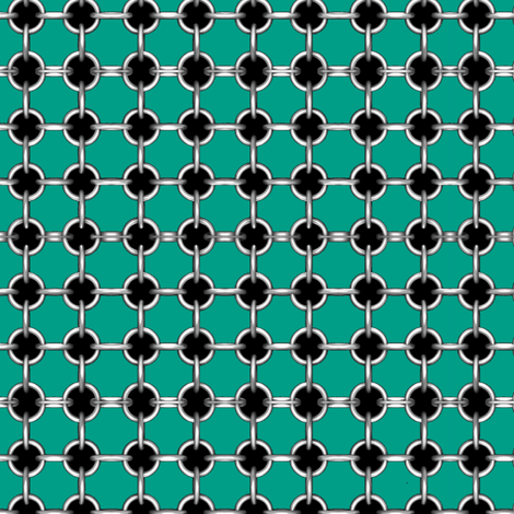 "5/8"" faux grommets on teal fabric by whimzwhirled on Spoonflower - custom fabric"