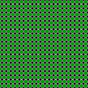 """5/8"""" faux grommets on green"""