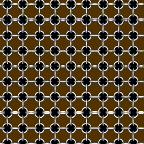"5/8""grommets on dark brown fabric by whimzwhirled on Spoonflower - custom fabric"