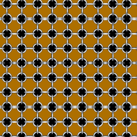 "5/8""grommets on light brown fabric by whimzwhirled on Spoonflower - custom fabric"