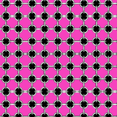 "5/8"" grommets on hot pink fabric by whimzwhirled on Spoonflower - custom fabric"