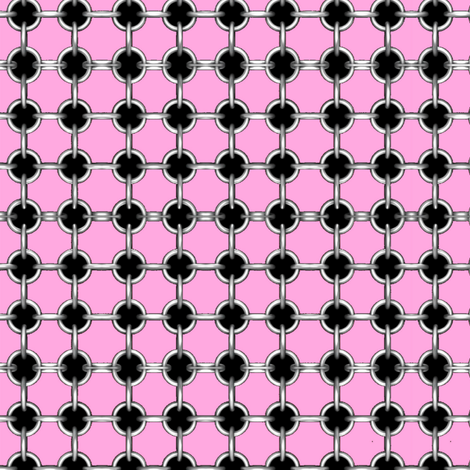 "5/8"" faux grommets on pink fabric by whimzwhirled on Spoonflower - custom fabric"