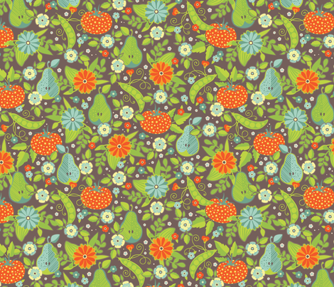 Farmer's Market - Midsummer Palette - Flower Vendor fabric by jennartdesigns on Spoonflower - custom fabric