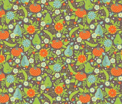 Farmer's Market - Midsummer Palette - Flower Vendor fabric by jennartdesigns on Spoonflower - custom fabric