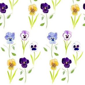 Vintage Pansies Lilac