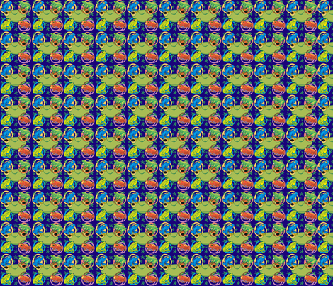 Froggy_Blue fabric by scifiwritir on Spoonflower - custom fabric