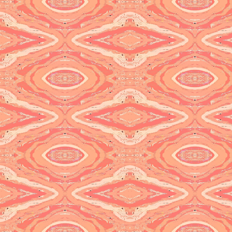 misty pastel peach and triangles fabric by dk_designs on Spoonflower - custom fabric