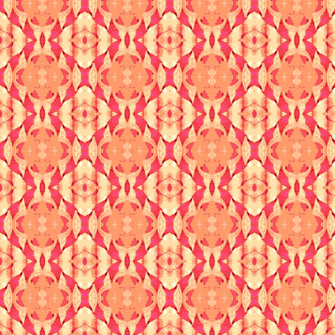 pastel peach and pink tiger stripes fabric by dk_designs on Spoonflower - custom fabric