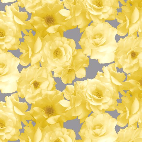 Yellow Roses fabric by pond_ripple on Spoonflower - custom fabric