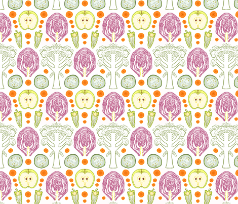 Farmer's Market Cross Sections fabric by vinpauld on Spoonflower - custom fabric