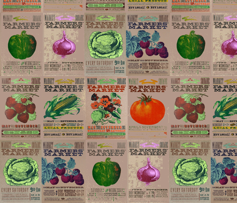 Farmers Market fabric by cheyennematthews on Spoonflower - custom fabric