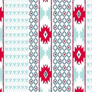 Navajo Stripe-white