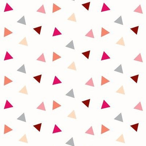 Triangle Confetti - Coral, Pink, Peach, and Grey Triangles
