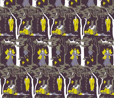 That yet we sleep, we dream fabric by audsbodkin on Spoonflower - custom fabric