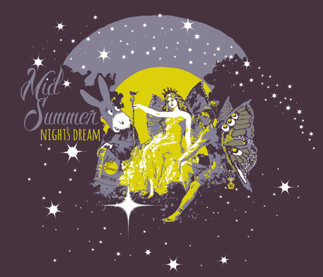 1 Midsummer night's dream fabric by paragonstudios on Spoonflower - custom fabric