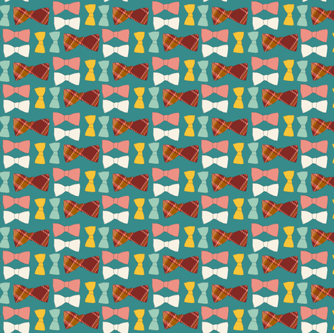 Bitty Bow Ties fabric by sara_berrenson on Spoonflower - custom fabric
