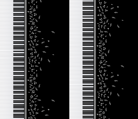 Piano Music fabric by jadegordon on Spoonflower - custom fabric