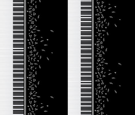 Piano Music fabric by jadegordon on Spoonflower - custom fabric