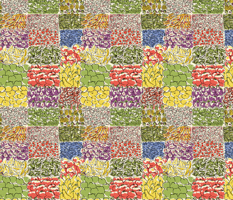 Farmer's Market Fruits Vegetables 1 fabric by vinpauld on Spoonflower - custom fabric
