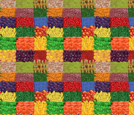 Farmer's Market Fruits Vegetables 2 fabric by vinpauld on Spoonflower - custom fabric