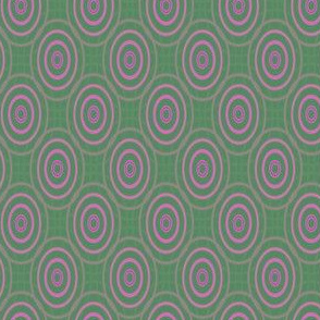 Pink Ovals on Green © Gingezel™ 2013