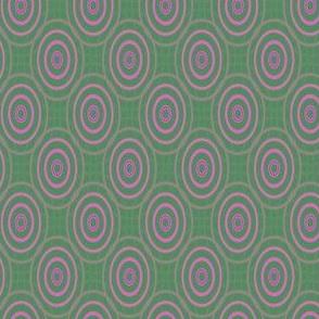 Pink Ovals on Green © Gingezel™ 2013