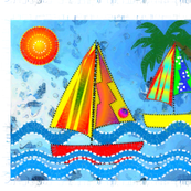 Whimsical Sailboats