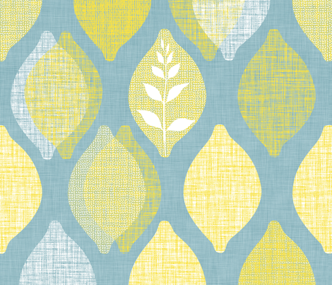 Amalfi Lemon Linen fabric by spellstone on Spoonflower - custom fabric