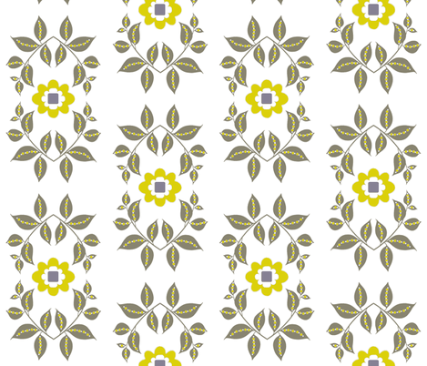 midsummer motif / white fabric by paragonstudios on Spoonflower - custom fabric