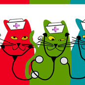 Whimsical Nurse Cats