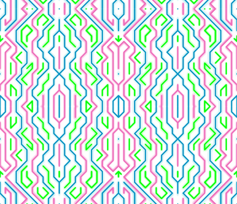 Neon Dash fabric by candyjoyce on Spoonflower - custom fabric