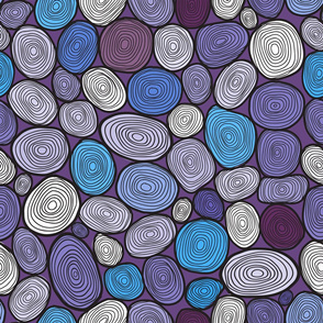 Seamless circles hand-drawn pattern, circles background.